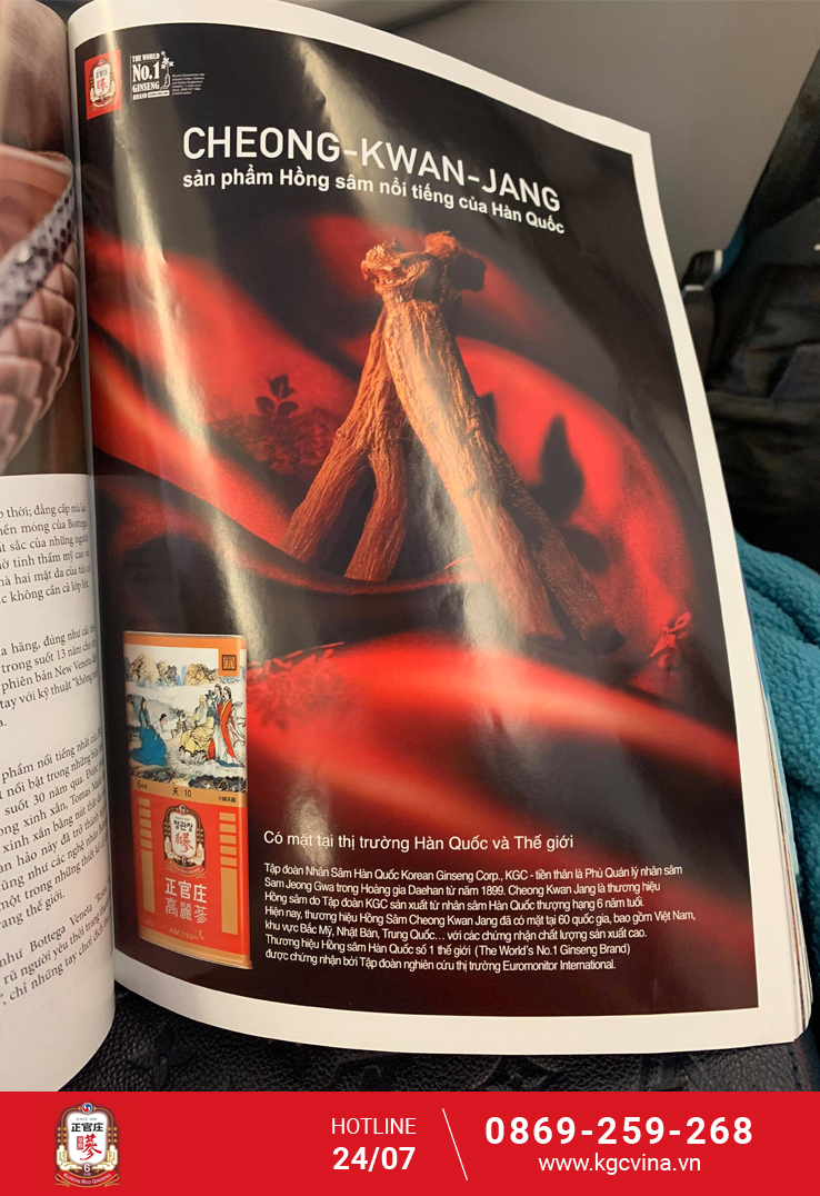 Quảng cáo trên tạp chí Heritage trên các chuyến bay của Việt Nam Airlines.