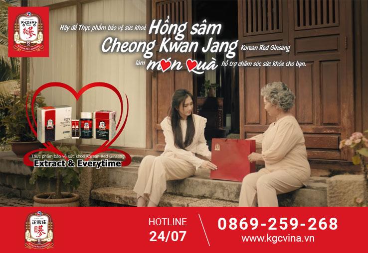 Tinh Chất Hồng Sâm Pha Sẵn KGC EveryTime còn đang được chiếu quảng cáo ở Việt Nam trên kênh VTV3, HTV,THVL.