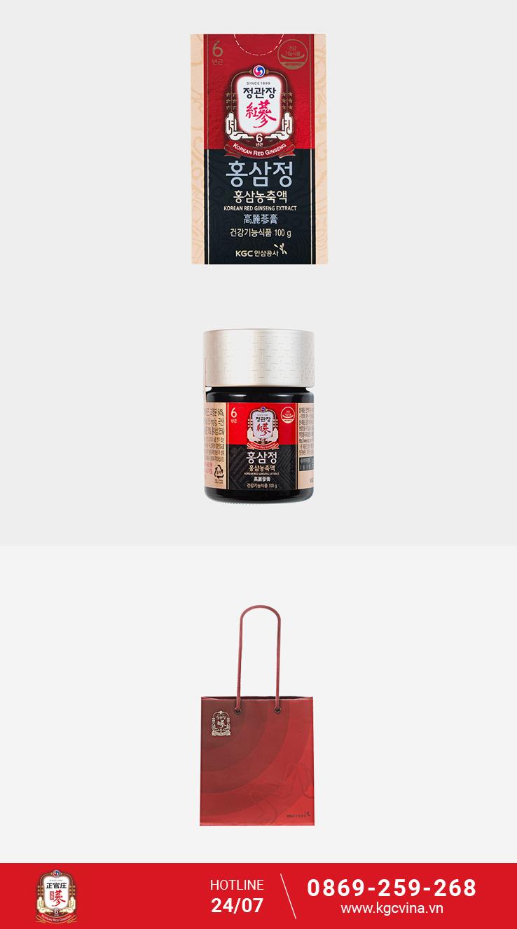 Bao bì cao hồng sâm cô đặc 100g -KGC