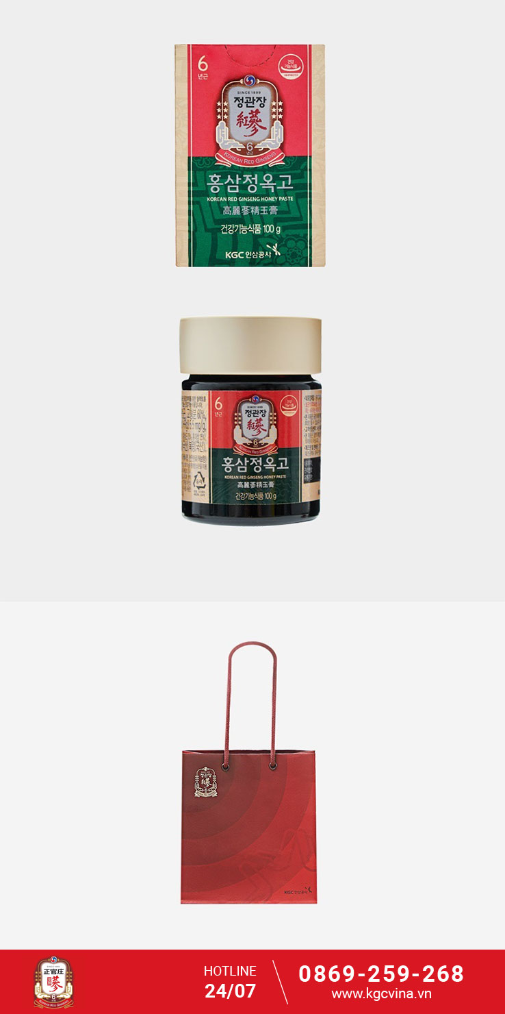 Tinh Chất Hồng Sâm Vị Mật Ong KRG Extract with Honey Paste – KGC (100g)