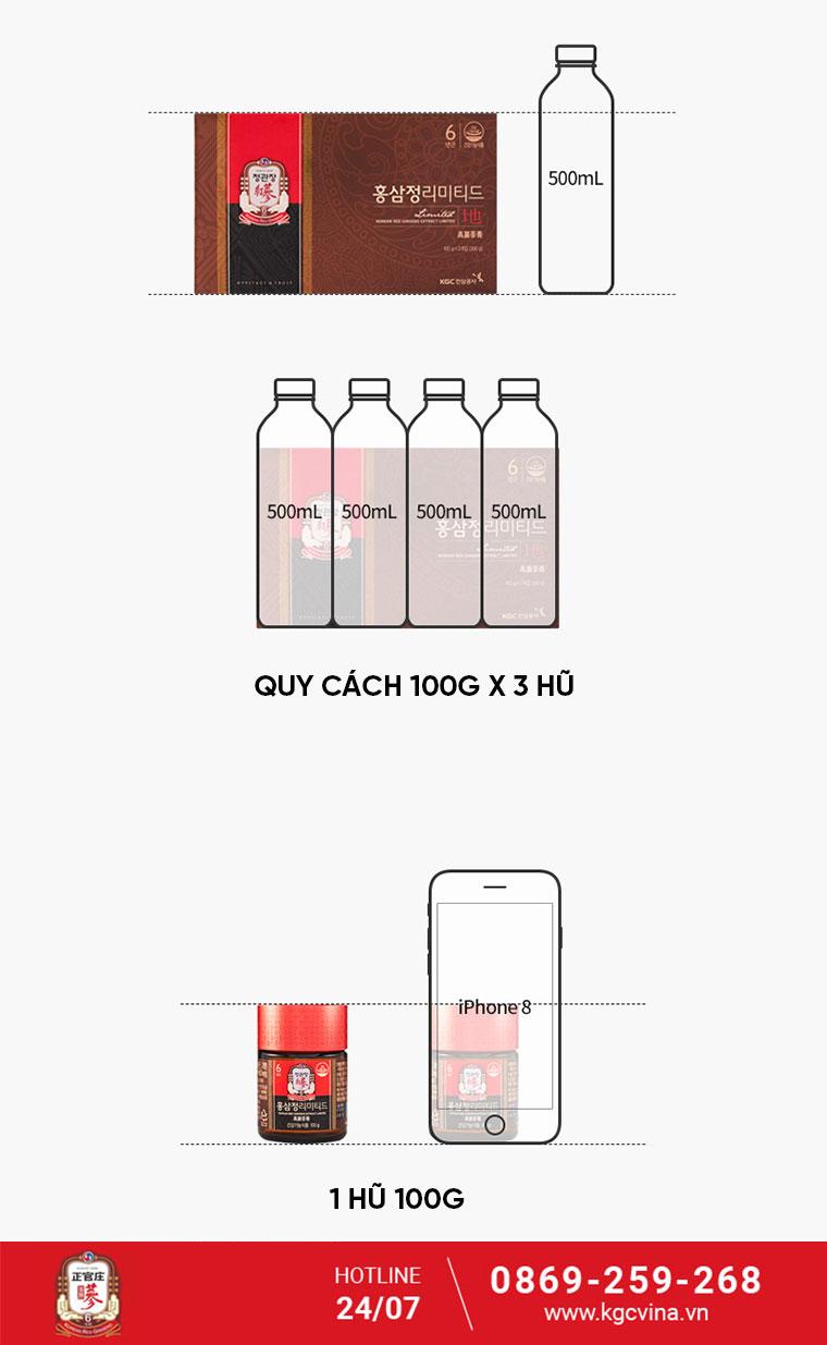 Qùa biếu sang trọng cao hồng sâm thượng hạng KGC 100g - kgcvina.vn