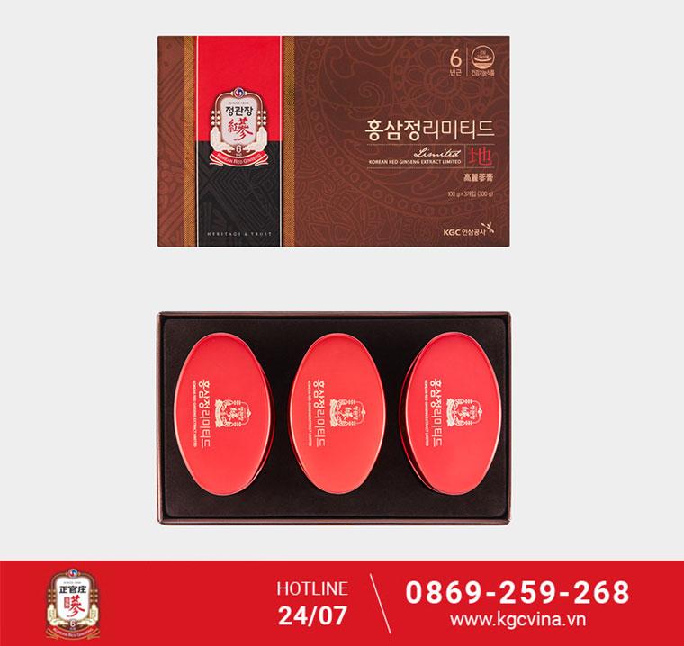 Sản phẩm cao cấp cao hồng sâm thượng hạng KGC 100g